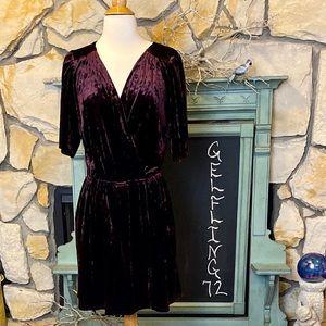 BCBGeneration Velvet Surplice Dress